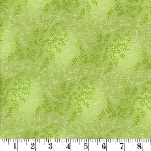 AE162 Extra Wide Backing - Light Green Tonal Vineyard
