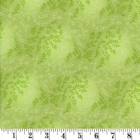 AE162 Extra Wide Backing - Light Green Tonal Vineyard