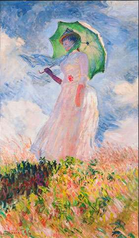 AE199 Claude Monet Sky - Woman - Digitally Printed Panel