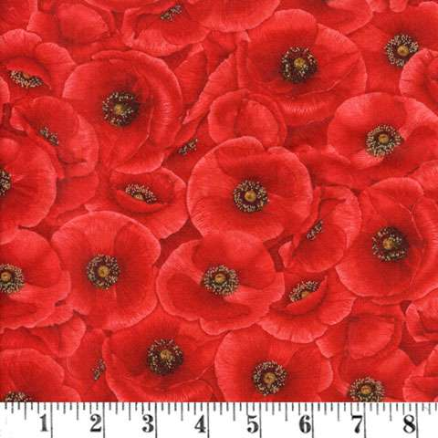AE204 Tuscan Poppies - allover print