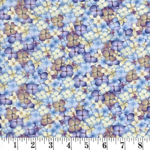AE210 Heavenly Hydrangeas - Multi Flowers