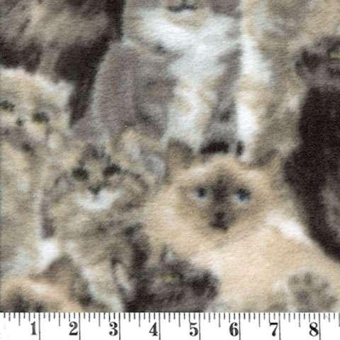 AE212 Fleece - Packed Kitty Cats