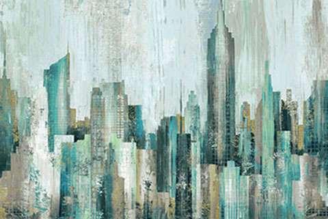 AE228 City Scene - Digitally Printed Panel