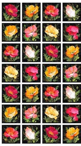 AE239 Full Bloom - Blocks 60cm Panel Repeat preview