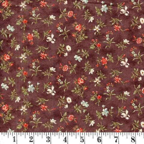 AE251 Quilt - blossoms dark mauve