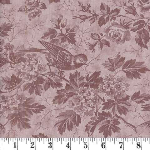AE253 Quilt - bird toile tonal mauve