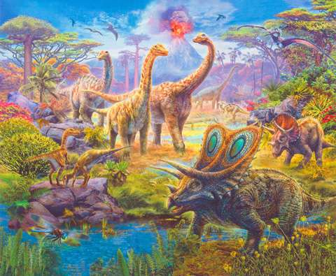 AE257 Picture This Adventure - prehistoric Dinosaurs Digital Panel