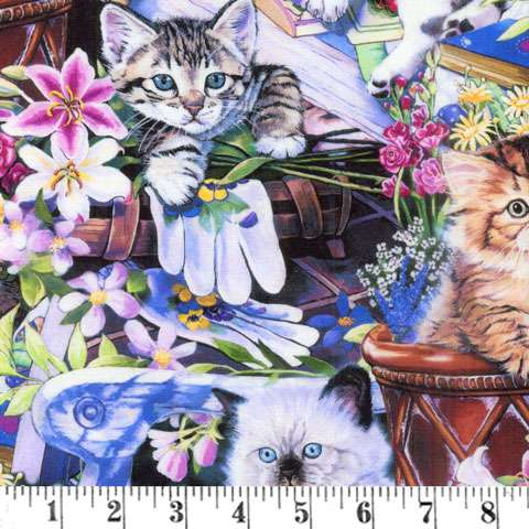AE271 Animal Life Collection - Cats & Kittens Digital Print