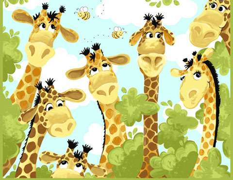 AE272 Zoe the Giraffe - Panel