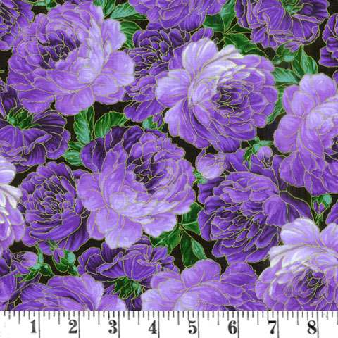 AE274 Enchant - Packed Flowers Metallic Overlay