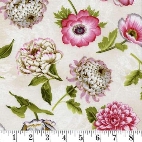 AE282 Tivoli Garden Toss - Ivory Flower Toss