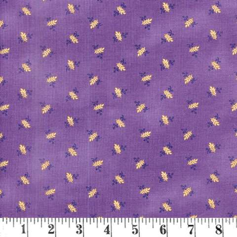 AE285 St Louis Collection - Purple with Tan Leaf