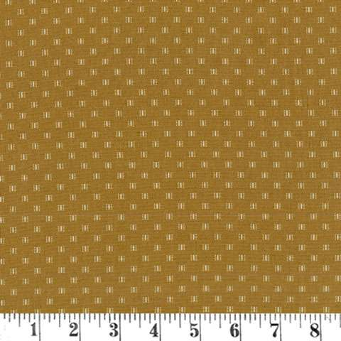 AE339 Madeline - Olive Dots