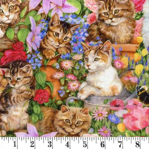 AE457 Precious Country Kitten - Digital Print