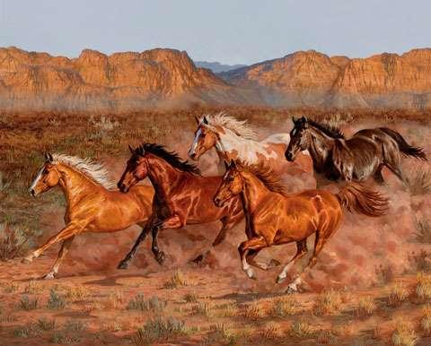 AE459 Heartland Horses - Digitally Printed Panel
