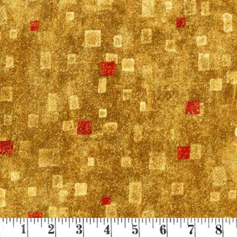 AE488 Gustav Klimt - Gold/Red Metallic