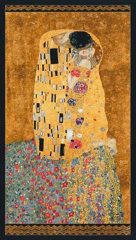AE493 Gold Gustav Klimt Panel with metallic overlay