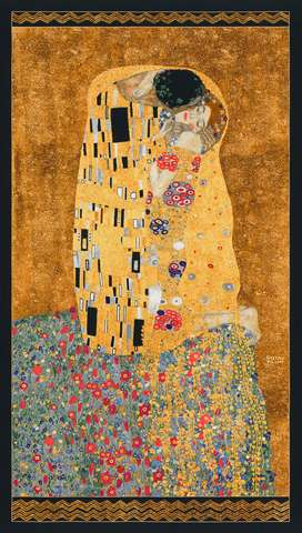 AE493 Gold Gustav Klimt Panel with metallic overlay