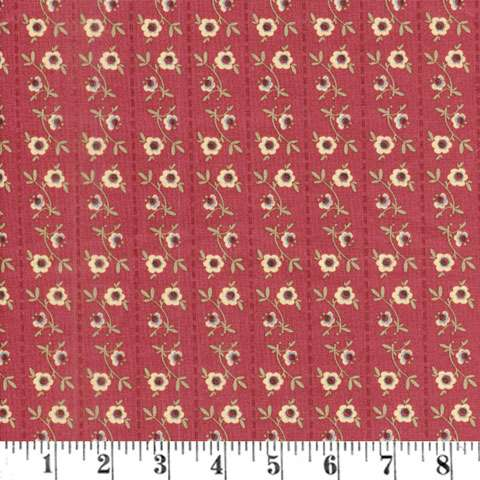 AE498 Pauline Medallion - Red Floral Stripe preview