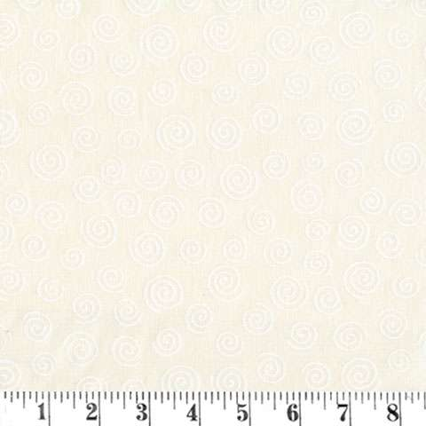 AE519 Extra Wide Backer - White Scroll on Cream