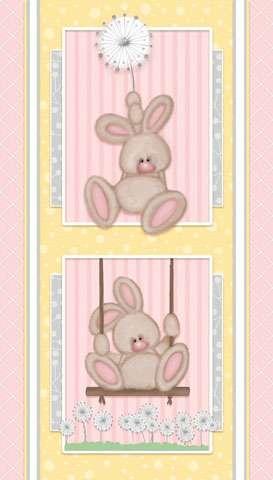 AE520 Fluffy Bunny - Flannel Panel