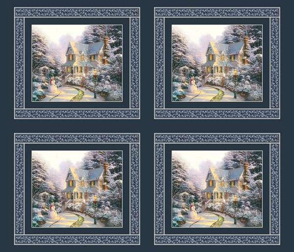 AE525 The Night Before Christmas - Digitally Printed Panel
