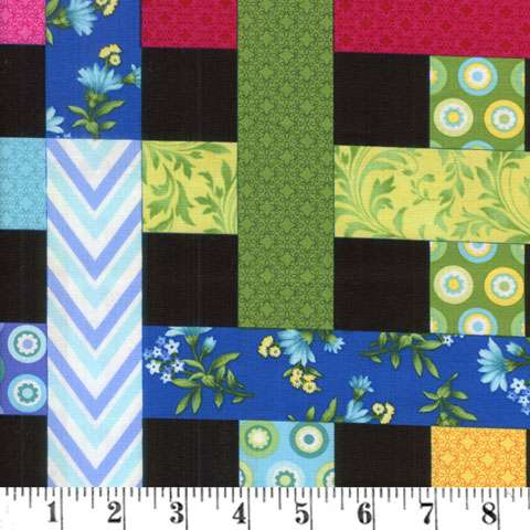 AE545 Botanical Blooms - Woven Ribbon