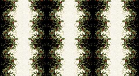 AE558 Festive Season - Holly Border