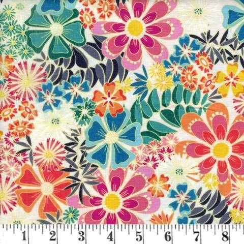AE569 Sundance - Retro floral print