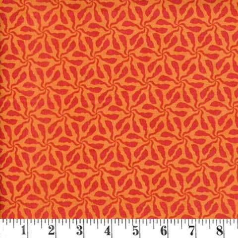 AE570 Sundance - orange swirly whirly