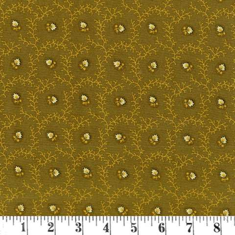 AE587 New Hope - Viney Floral - Olive Green