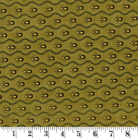 AE588 New Hope - Wavy Stripe - Pine Green