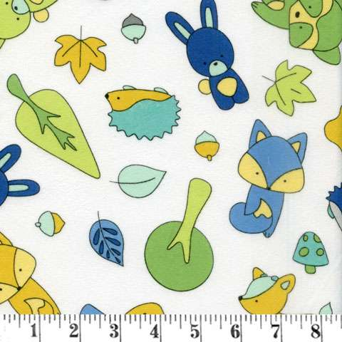 AE597 Babe in the Woods Too! - Flannel - Scattered Animals