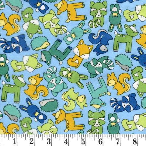 AE599 Babe in the Woods Too! - Flannel - Multi Small Animals