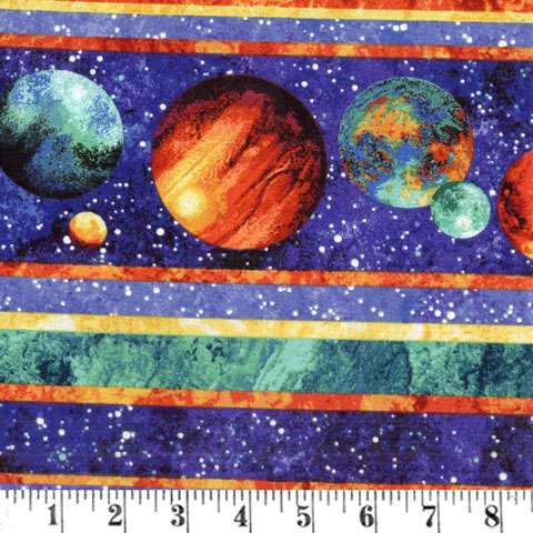AE607 Out of this World- Border Print - Glow in the Dark