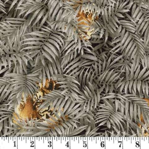 AE656 Tiger Kingdom - Hiding Behind Leaves