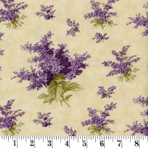 AE675 Lilac Ridge - Lilacs - Cream