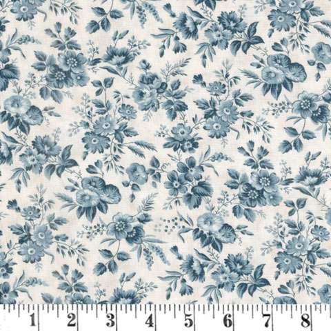 AE692 Snowberry Prints - Delicate Sprays - Snow/Sky