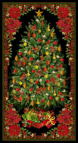 AE750 Joyful Season - Christmas Tree Panel