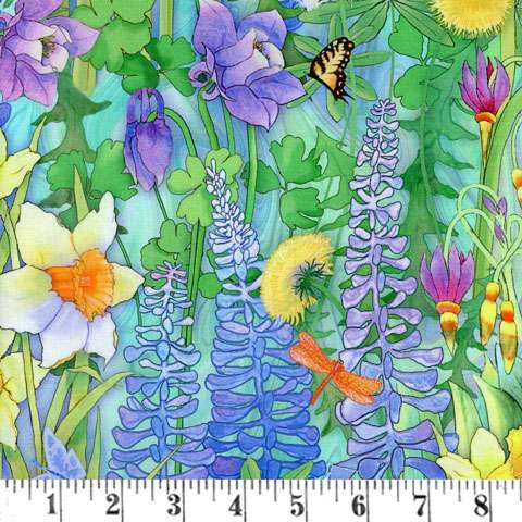 AE759 Natures Garden Digital - Multi Floral preview