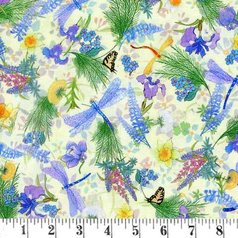 AE762 Natures Garden Digital - Yellow Allover Floral