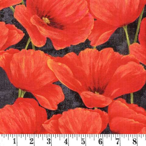 AE763 Scarlet Dance - Poppies