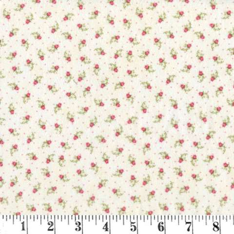 AE857 Gentle Garden 2 - Flannel - Cream Buds