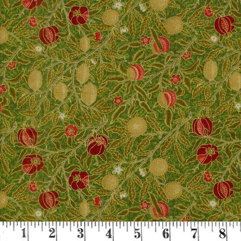 AE955 Morris Holiday Metallic - Fruit of Pomegranate - Pine