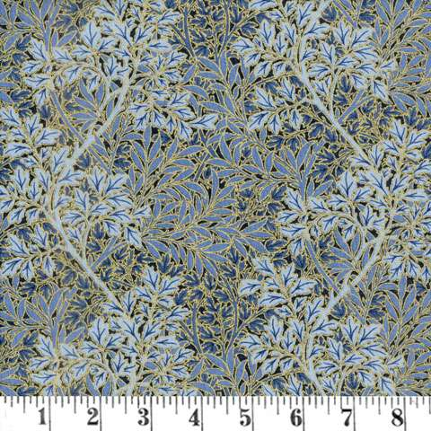 AE961 Morris Holiday Metallic - Foliage - Indigo
