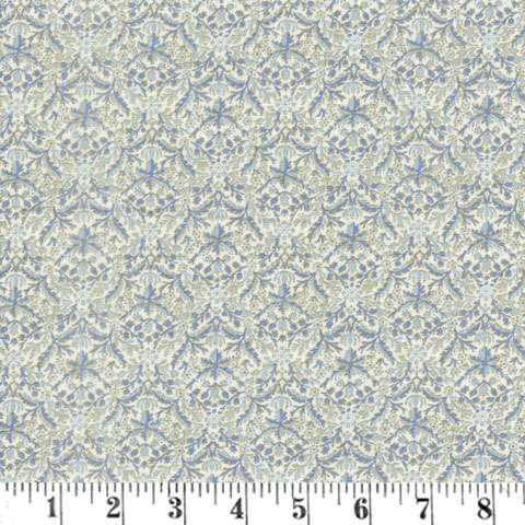 AE966 Morris Holiday Metallic - Wreathnet - Linen/Indigo