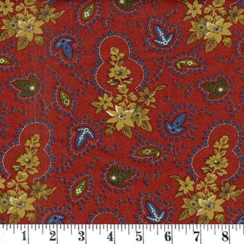 AE984 Falls Majesty - Red Paisley