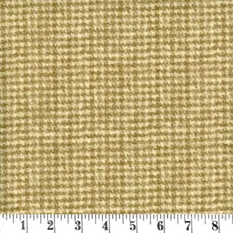 AE996 Woolie Flannels - Houndstooth Khaki Brown