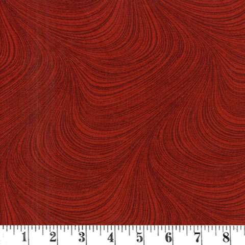 AF027 Extra Wide Backing - Wave - Dark Red