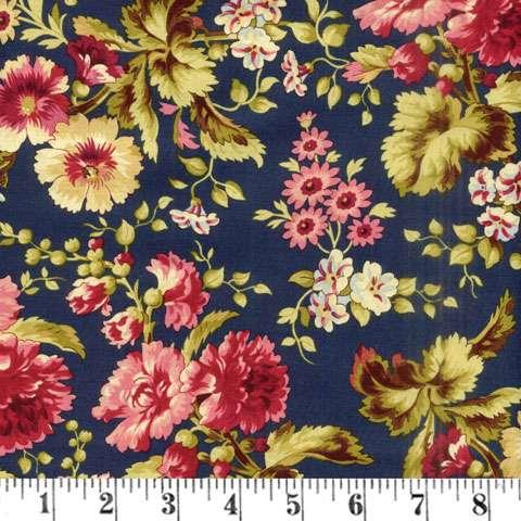 AF169 Bricolage - navy large floral preview